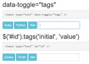 Minimalist Tags Input Plugin with jQuery and Bootstrap - tags.js