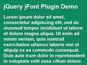 <b>Minimalist jQuery Responsive Font Size Plugin - jFont</b>
