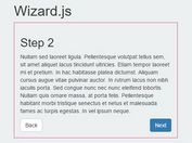 Minimal Step By Step Progress Plugin With jQuery - Wizard.js