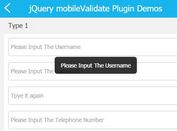 Mobile First Form Validation Plugin With jQuery - mobileValidate