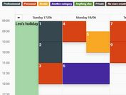 <b>Mobile-friendly Calendar and Schedule Plugin - jQuery Calendar.js</b>