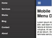Mobile Off-screen Push Menu with jQuery and CSS3