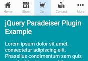 Mobile-first Responsive Navigation Bar with jQuery and CSS3 - Paradeiser