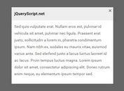 Minimal Clean Modal Popup Plugin For jQuery - DD_PushUpBox