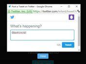 Modal-like Twitter Tweet Window Plugin With jQuery - tweetr-js