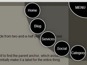 Multi-Level Radial Nav Menu with jQuery and CSS3