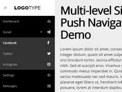 Multi-level Sidebar Push Navigation With jQuery And CSS3