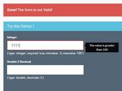 Easy Number Input Validation Plugin For jQuery - numberValidation