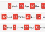 Plain Text Countdown Timer with jQuery and Moment.js - Countdown Clock
