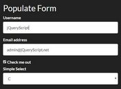 Populate Form With Data Object - jQuery formHelper