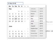 Pretty jQuery & jQuery UI Date Picker - Rich Date Picker
