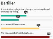 Responsive Animated Progress Bar With jQuery And CSS3 - Barfiller.js