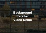 Responsive Background Video Plugin With Parallax Effect - backgroundVideo