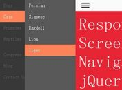 Responsive Multi-level Off Screen Navigation Plugin For jQuery - cbFlyout