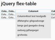 Responsive Flexible Table Plugin For jQuery - flex-table