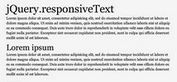 Responsive Text & Grid Plugin with jQuery - responsiveText