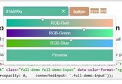 Responsive & Touch-Friendly jQuery Color Picker Sliders