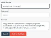 Save And Restore Form Values With jQuery - savy.js
