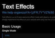 Science Fiction Style Text Effect Plugin with jQuery - textEffects