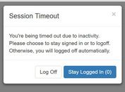 Session Timeout Alert Plugin With jQuery - userTimeout