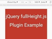 Set Element Height To 100% - jQuery fullHeight.js