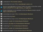 Show A Stream of Your Online Activity With jQuery - lifestream