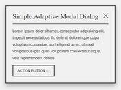 Simple Adaptive Modal Dialog Plugin With jQuery And CSS3