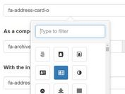 Simple FontAwesome Icon Picker Plugin For Bootstrap