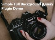 Simple Fullscreen Background Image Plugin with jQuery