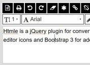 Simple HTML WYSIWYG Editor with jQuery and Bootstrap - Htmle