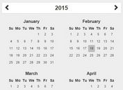 Simple Year Calendar Plugin For jQuery and Bootstrap