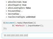 Simple jQuery Input Number Formatting Plugin - Input Format