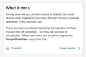 Simple jQuery Plugin For Responsive Sliding View - SimpleSlideView