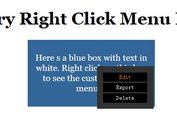 Simple jQuery Right Click Menu Plugin