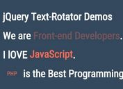 Simple jQuery Text Rotator with CSS3 Animations
