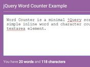Simple jQuery Word and Character Counter For Text Box - Word Counter