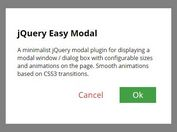 Simplest Responsive Modal/Dialog Box Plugin With jQuery - Easy Modal