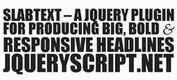 <b>SlabText - Responsive Text Plugin For jQuery</b>