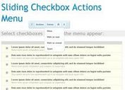 Sliding Checkbox Actions Menu