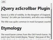 Slim Custom Scrollbar Plugin For jQuery - asScrollbar