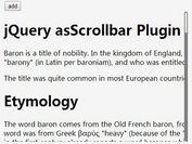 Slim Custom Scrollbar Plugin For jQuery - asScrollbar