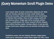 <b>Smooth Momentum Scrolling Effect with jQuery - Momentum Scroll</b>