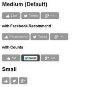 SocialCount - Mobile Friendly Social Networking Widgets