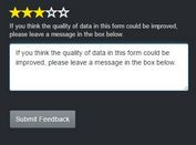 Star Rating Feedback Plugin For jQuery - feedbackBars.js