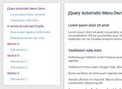Sticky TOC-style Navigation with jQuery - Automatic Menu