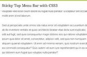 Sticky Top Menu Bar with CSS3
