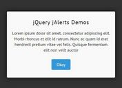 <b>Stylish jQuery Alert Dialog Box Plugin - jAlerts</b>