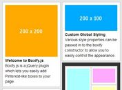 Super Simple jQuery Pinterest-Style Grid Layout - Boxify.js