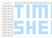 Table Based jQuery Calendar & Schedule Plugin - TimeSheet