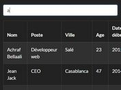 Basic Table Live Search Plugin For jQuery - liveSearch.js